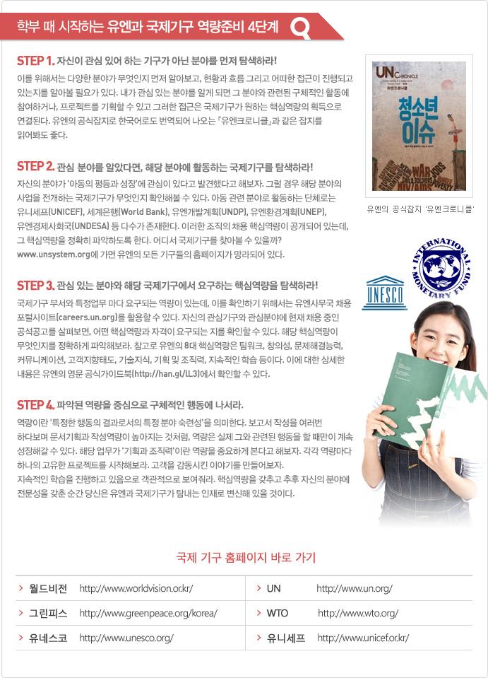학부 때 시작하는 유엔과 국제기구 역량준비 4단계