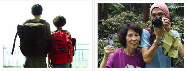 태원준 작가와 어머니 이미지