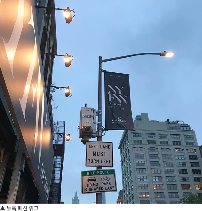 뉴욕 패션 위크에서