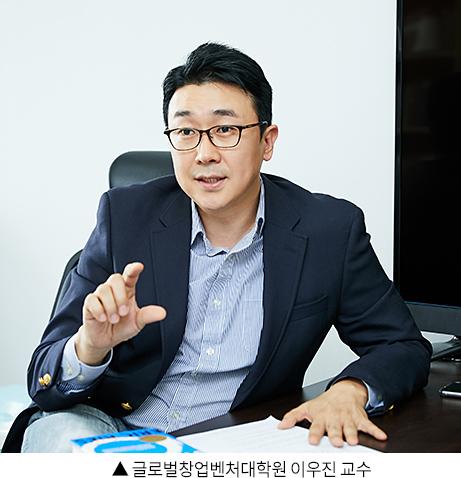 ▲ 글로벌창업벤처대학원 이우진 교수