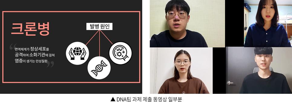 ▲ DNA팀 과제 제출 동영상 일부분